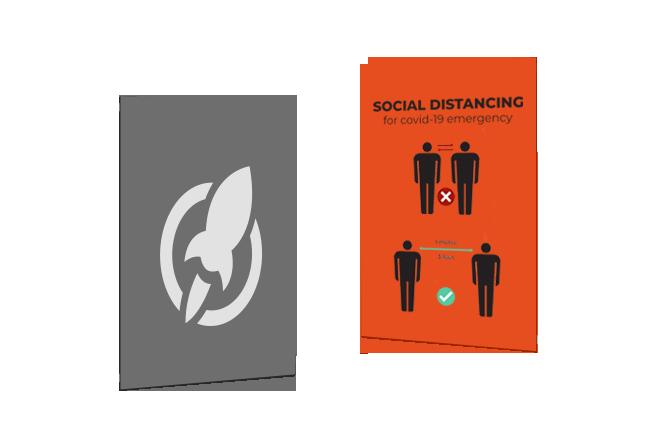 Social Distancing Posters Rush Flyer Printing